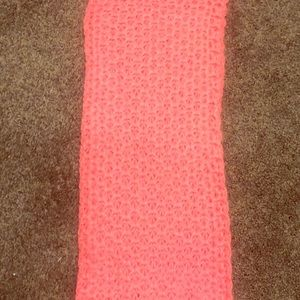 Accessories - Neon pink knit infinity scarf